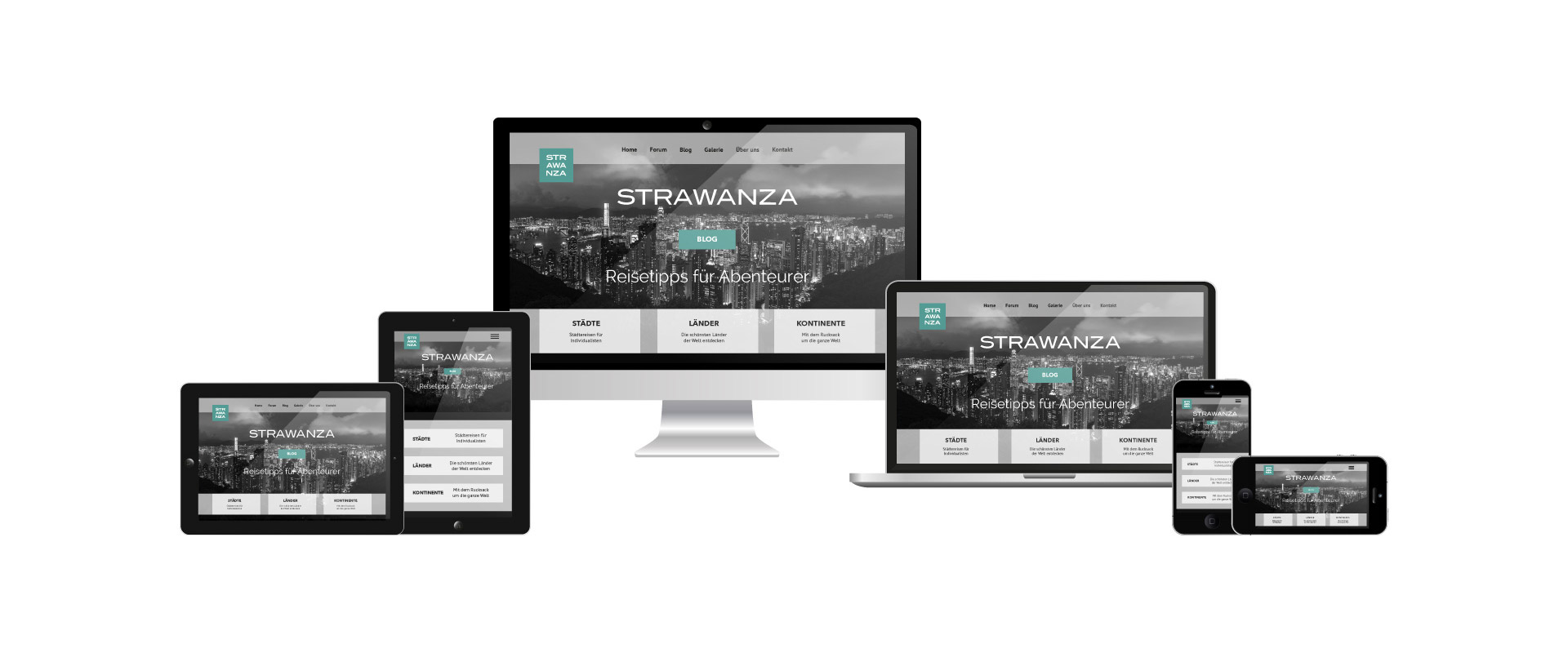 Webseite mit Responsive Design von Webdesign Cham